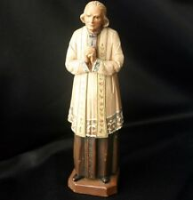 Catholic SAINT JOHN VIANNEY Carved Wood Statue