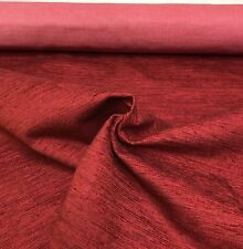 LAURA ASHLEY RED CHENILLE UPHOLSTERY FABRIC 4 METRES