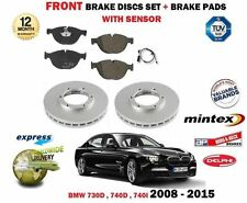 FOR BMW 730D 740D 740i 2008-2015 FRONT BRAKE DISCS SET + PADS SET + SENSOR