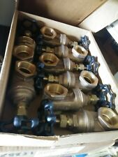 "8 ea 1-1/2"" Gate Valve, Hammond IB645 Commercial Bronze Threaded  125S-200 W"