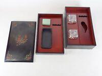 Japanese antique vintage Makie lacquer wood Shodo Suzuribako writing box chacha