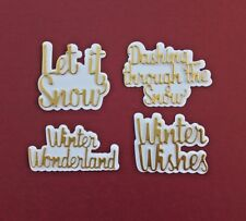 Die Cut Matt & Layer Christmas Word Sentiments Card Toppers Card Making Crafts