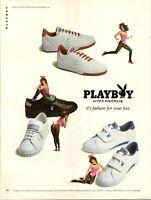 1983 Playboy Footwear Shoes Fashion Bunny Vintage Print Ad