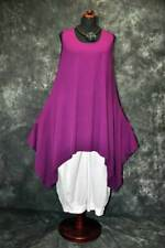 MYO-Lagenlook raffiniertes A-Linie-Top-Tunika-Kleid BEERE 44,46,48,L,XL,XXL