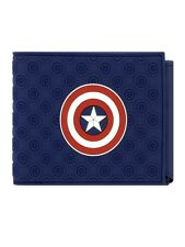 Captain America Logo Blue Bi-Fold Wallet