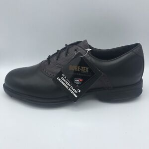 Vintage Etonic Difference 2000 Golf Shoes Gore-Tex Men's Size 10.5 Black Leather