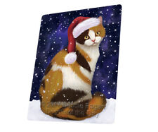 Let it Snow Christmas British Shorthair Cat Tempered Cutting Board Large Db60