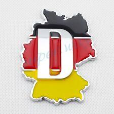 Vehicle 3D Emblem Germany DE Map Symbol Logo Badge Sticker Decal Accessories