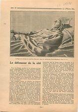 Statue Mortuaire Cardinal Mercier Cathédrale Saint-Rombaut 1931 ILLUSTRATION
