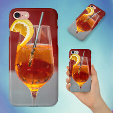 BEVERAGE IN CLEAR WINE GLASS HARD BACK CASE FOR APPLE IPHONE PHONE