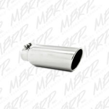 MBRP T5150 304 SS Round Angle Cut Clamp-On Mirror Polished Exhaust Tip