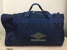 UMBRO DUFFLE BAG - Vtg 90s Navy Blue Soccer Equipment Shoes Tote, Luggage