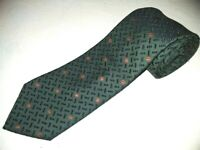 New Bruno Magli Tie Dark Green Thick Woven Jacquard Wool Silk Luxury Designer