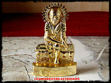 LORD SAI BABA GOD ANTIQUE GOLD PLATED METAL STATUE ENERGIZED
