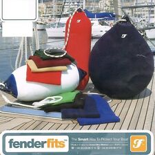 Fender Fits Cover - Boat/Yacht A5 Buoy Sock Navy Blue 92x70cm - Made in France