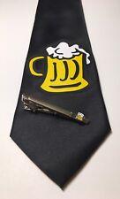October Fest Beer Necktie And Tie Clip