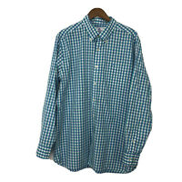 Southern Tide Long Sleeve Button Down Shirt XL Classic Fit Men's Plaid Blue