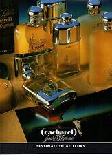 Publicité Advertising 1987  Parfum CACHAREL pour l'homme eau de toilette