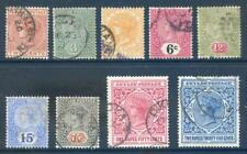 Ceylon 1899 to 1900 Queen Victoria set 9 used (2017/11/08#03)