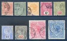 Ceylon 1899 to 1900 Queen Victoria set 9 used (2017/11/08#03)