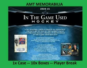 Eric Lindros 2020/21 Leaf In The Game Used 1X CASE 10X BOX BREAK #2