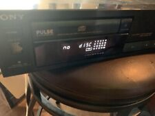 Sony Pulse Compact Disc Player CDP-591 Black Tested Works No Remote