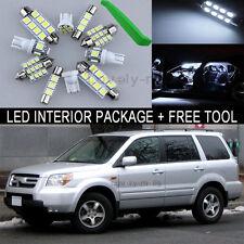 White LED Interior Package Light Bulb 12X Kit For 2006 2008 Honda Pilot+Tool J