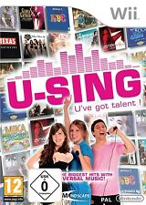 Nintendo Wii Spiel U-Sing U've got talent ! Neu&OVP