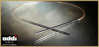 ADDI Fixed Circular Knitting Needle 20, 30, 40 cm length Brass tips Gold Cord