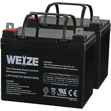 Weize 12V 35AH Battery for Invacare Pronto M41 Wheelchair 24V Scooter UB12350 x2