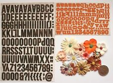 NO 187 SCRAPBOOK - 100+ ALPHABET STICKERS AND 12 EMBELLISHED FLOWERS