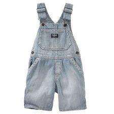NWT OshKosh B'gosh Shortalls Overall Shorts Baby Infant Boys 18 M $32