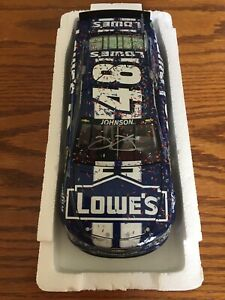 Signed Jimmie Johnson Lowe's Raced Version 2013 Daytona 500 Diecast No Reserve!