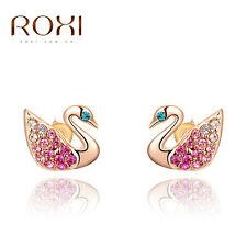 Roxi encantos Lindos Aretes Rosa Dorado De Lujo De Cisne