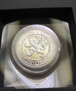 2020 Netherlands 2 oz Silver Proof Lion Dollar Restrike (w/Box & COA)