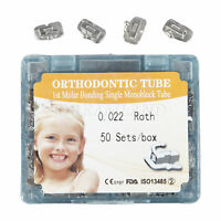 50 Sets/Box Dental Orthodontic 1st Molar Non-convertible Roth 0.22 Buccal Tube z
