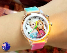 Girl Kid Cute Pink Frozen Led lightening Rubber Silicone band Watch Gift for her
