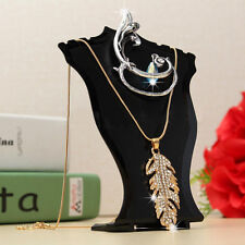 Black Earring Chain Necklace Holder Stand Jewelry Bust Mini Display Showcase