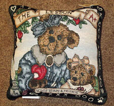 Boyds Bears ~ The Lesson Teacher/Student Tapestry Square Pillow