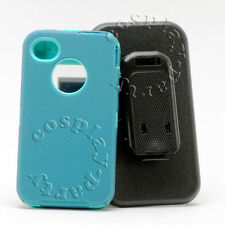 iPhone 4/4s Case w/Holster Belt Clip fits Otterbox Defender Case  Blue Teal