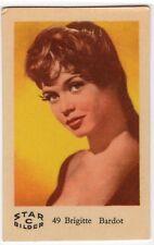 1960s Swedish Film Star Card Star Bilder C #49 French Sex Symbol Brigitte Bardot