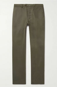 NWT $275 Officine Generale New Fisherman Chinos | Olive Green, 32W (fits 31W)