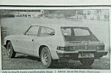Reliant Scimitar GTE Auto Road Test Autocar Magazine 20 March 1976 Classic Car