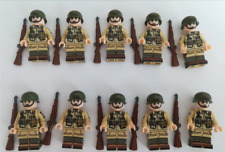 WW2 Military US Airborne Division 101st 10 pcs soldier Weapons Minifig lego MOC