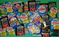 INCREDIBLE Lot of 105+ Unopened Old Vintage Baseball Cards in Wax Packs & BONUS!
