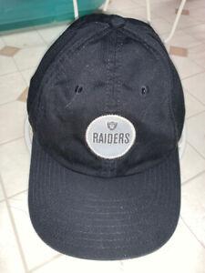 Nice Oakland/Las Vegas Raiders Hat Cap OSFA One Size Nike Team Black Circle Logo