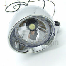 Motorrad Scheinwerfer 27 LED Universal Angel Eye Licht Für Chopper Bobber Custom