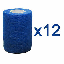 CMS Medical Vet Self Adhesive Cohesive Bandage 7.5cm Blue Sport Support Tape x12