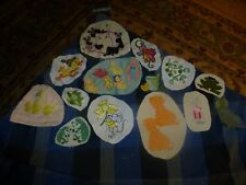 Vintage Homemade Cute Animals Embroidery Remnant Patch Lot Of 13 Unique
