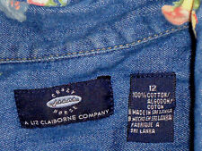 CRAZYhorseJEANSbyLIZ CLAIBORNE PocketedCottonS/s Size12 as NEW